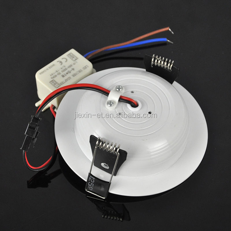 5W AC 110V 220V IR Motion Sensor LED Down Light Indoor LED Recessed Ceiling Light Round Shape Panel Down Lamp