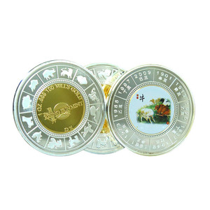 Custom coins 1 oz Year of the Ox Round coin no minimum challenge coin indian old for wholesale