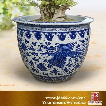antique large chinese porcelain pot ceramic planter