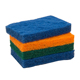 Customize size die cut high quality colored kitchen heavy-duty plastic scouring pads