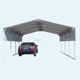 3.3x6x2.5m Single Steel Carport Galvanized Frame Portable Car Truck Boat Caravan Cover Shelter cost-effective metal carport