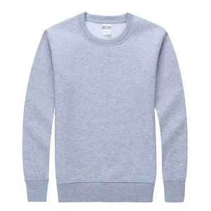 Wholesale Blank Men Plain Cotton Pullover Crew Neck Custom Sweatshirt