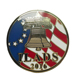 Polished Art & Collectible American Flag Enamel Lapel Pin