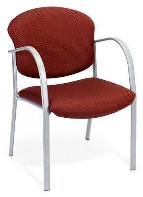 Medical Office Side Chair in Burgundy Fabric -Doctor Office & Clinic Guest Chair