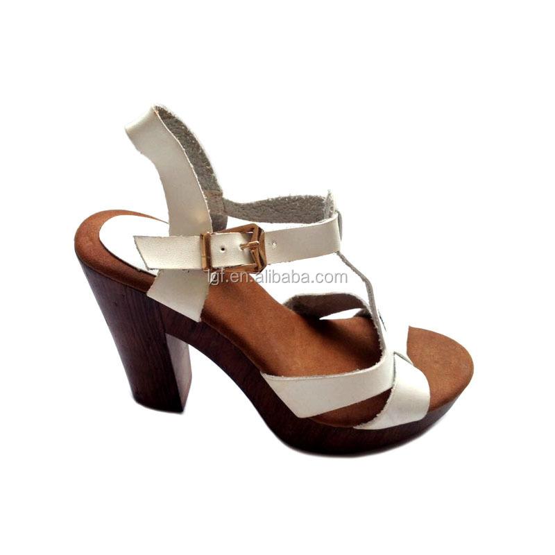 2017 Fashion Women Square sandals Cross-Strap High Heels Shoes Casual Cork  Wooden Summer Platform - 2017 Fashion Women Square Sandals Cross-strap High Heels Shoes