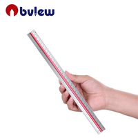 12 Inch 30cm Aluminum Ruler Tri Scale Architect Engineer Technical Triangle Scale Ruler