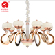 Flying Lighting modern nordic geometric rose gold Led crystal chandelier indoor light pendant lamp