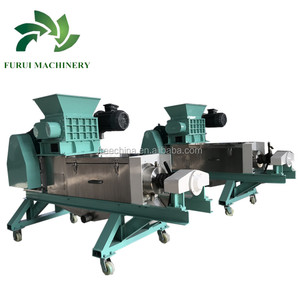 Food plant waste water treatment separating/waste food dewater machine