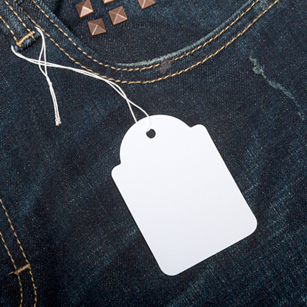 White Jeans Paper Hang Tag