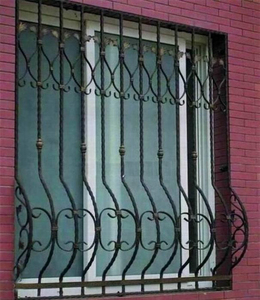 cheap house decorative morden simple wrought iron window guard design