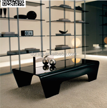 2016 Formal elegant coffee table is used tempered toughened glass to be finished for living room furniture