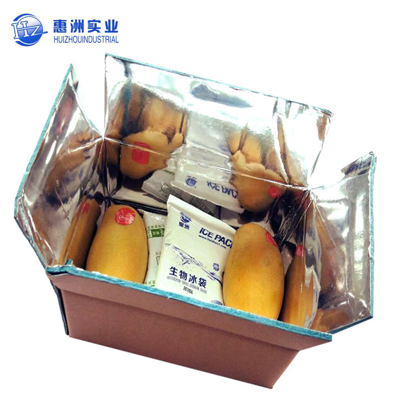 custom fruit packing Cold storage corrugated boxes with aluminum foil Shipping custom Carton cardboard insulated box suppliers