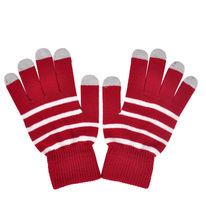 Wholesale Customized Knitting Touch Screen stripe Knitted winter gloves