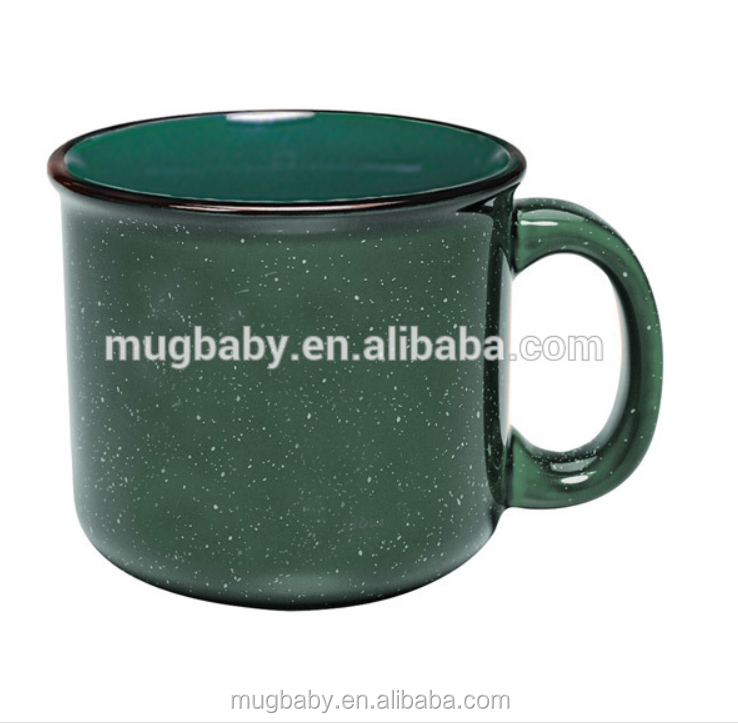 Wholesale customized cups logo printing enamel mug
