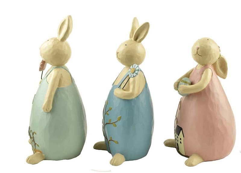 Polyresin best sale Easter bunny for decoration 2018