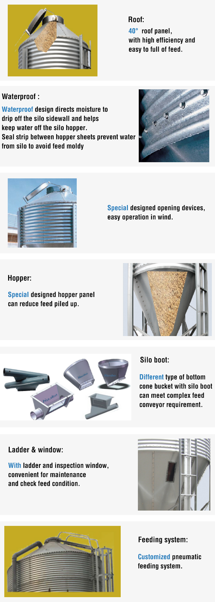 Agriculture Project Farm Feed Storage Silo for Sale