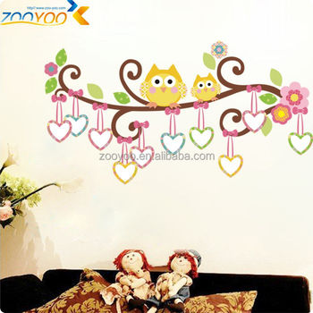 Kids Playroom Decorations Photo Frame Owl Wall Stickers Zooyoo Art ...
