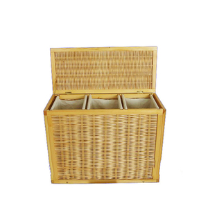 wicker collapsible laundry basket divided basket