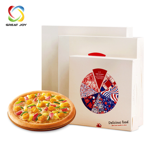 Fruit carton apples frozen pizza cardboard carrying box with handle