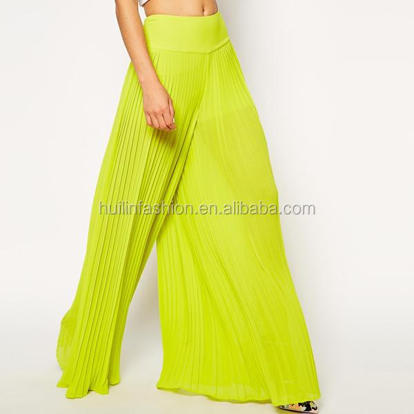 Estilo Falda Moda Larga Maxi De Pantalones Gasa qaAwx8qd