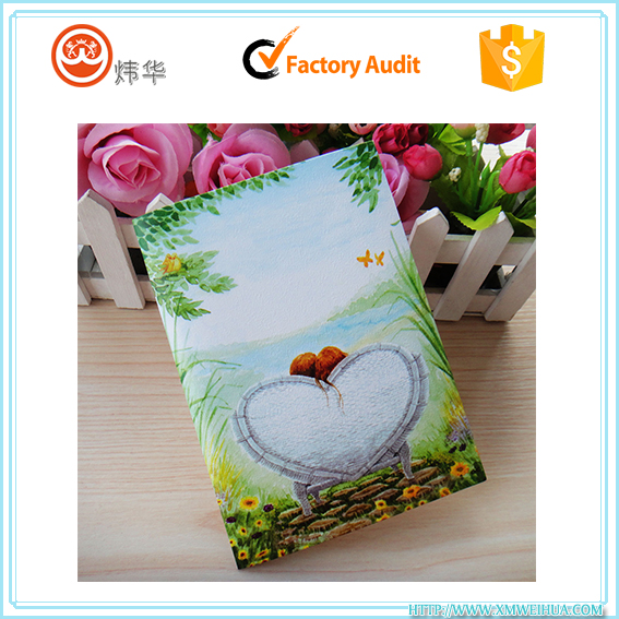 China gold manufacturer luxury handmade custom designs gift greeting card
