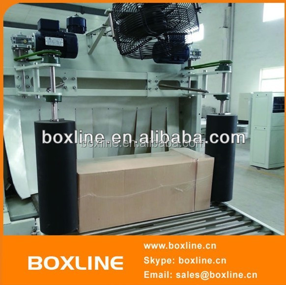 Automatic box,bag, carton and bottle shrinking packager