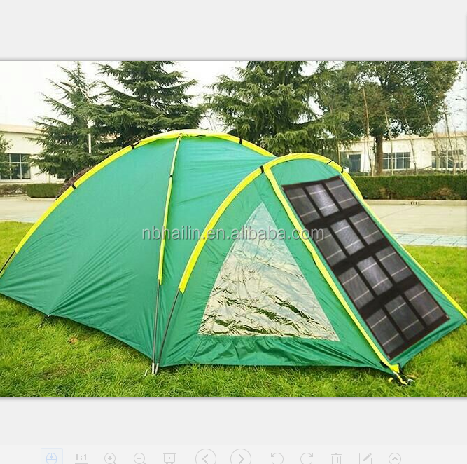 Factpry sell High Quality Outdoor Solar camping Tent