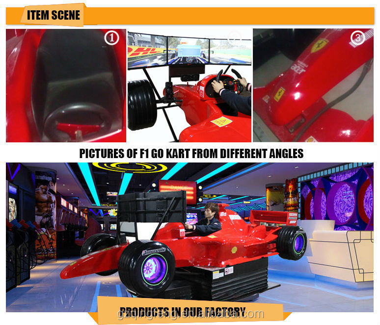 Qingfeng New F1 Race Car Simulator 4d Car Driving Simulator With 3