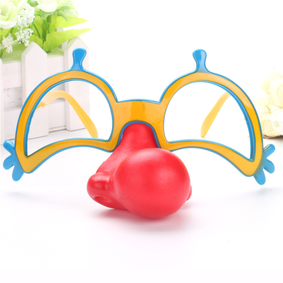 Clown Fancy Dress Up Costume Party Props Fun Circus Clown Accessories Festive Party Supplies Decoration Red Nose glasses