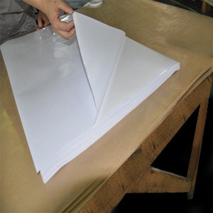 High Quality self adhesive paper self adhesive white pvc in sheet