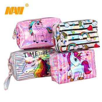 Shiny Funny Printing Pouch Kids Unicorn Makrup Bag Buy Shiny