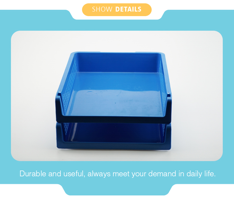 High quality durable product 2 layer PP file tray with good price