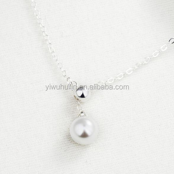 YFY145 Yiwu Huilin Jewelry Personalized pearl girls exquisite rice pearl necklace design