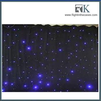 led lichteffecten grote ster gordijn 4 m 6 m ster colth podium gordijnen blauw