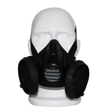 Double Canister Gas Mask,Industrial Face Mask,Half Face Gas Mask ...