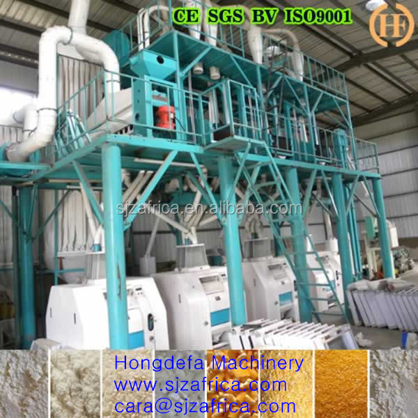 50T/24H Full automatic maize flour machine/wheat flour mill/maize milling plant