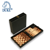 3 in 1 Magnetic Backgammon Chess Checkers Folding Game Set