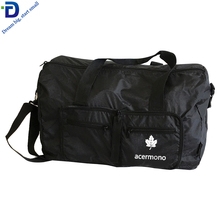 DF3310 Custom Log PET Spalla <span class=keywords><strong>di</strong></span> Viaggi Week-End Pieghevole <span class=keywords><strong>Duffle</strong></span> Bag Con Compartimento per Scarpe