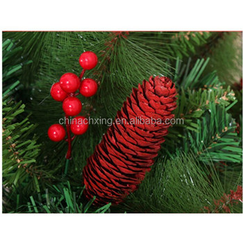 waterproof polystyrene foam artificial red berries for christmas tree decorations materials - Red Berry Christmas Tree Decorations