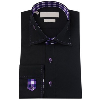 2e5632bf black color fashion gents design shirts