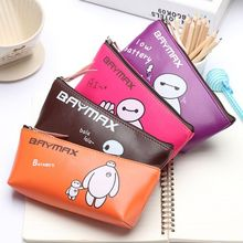 (Factory Supplier) Hot Movie Big Hero Pencil Pouch, Cute Baymax Pencil Case, Big Hero 6 Pencil Bag