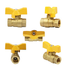 Standar Kemasan 1 Box 20 Pieces 3/8 Inch Kuningan Butterfly Gas Ball Valve