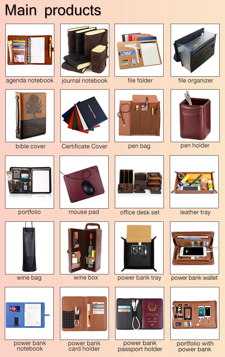 high quality restaurant pu leather A4 menu holder cover