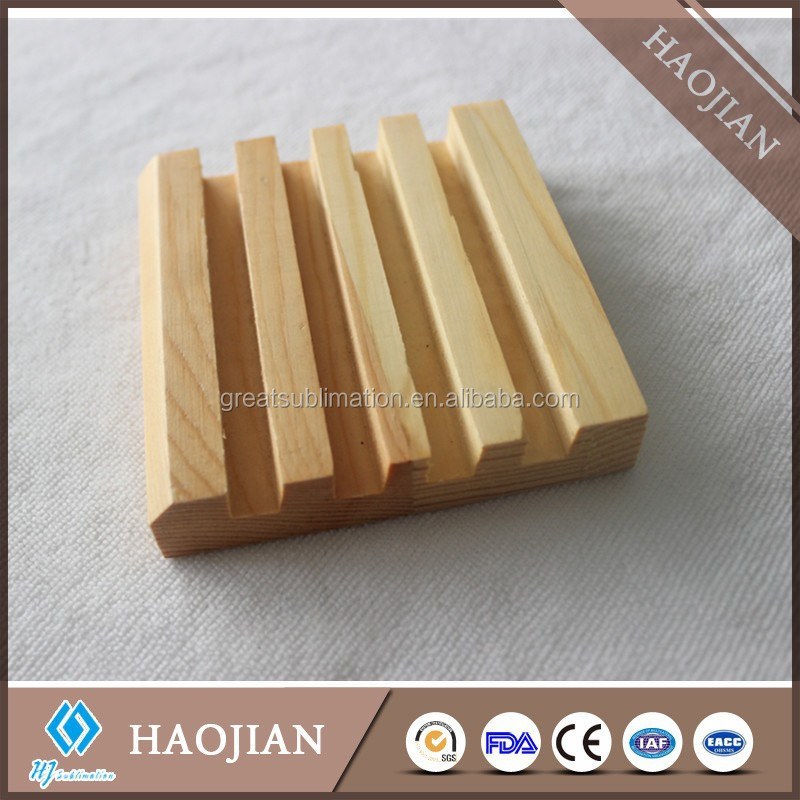 4 recess beautiful solid wood coaster holder, square wooden base of coaster