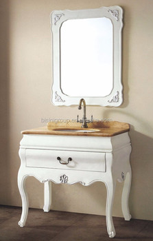 Bisini French Style Bathroom Set Mirror Vanity Cabinet Furniture