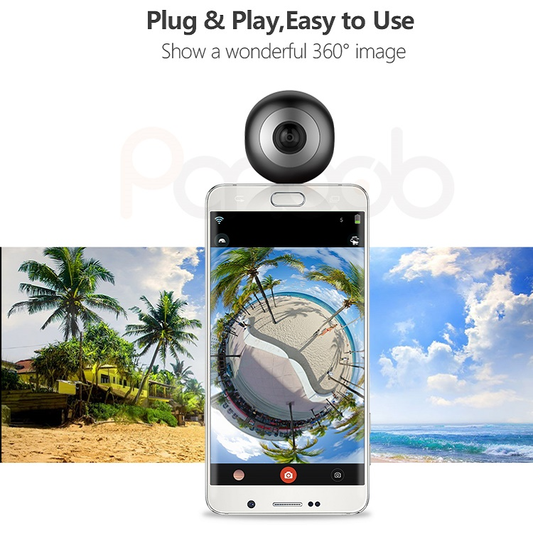 720 degree dual lens mobile phone attached full hd 360 panoramic insta VR <strong>camera</strong>