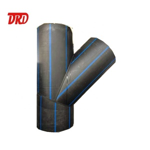 HDPE black plastic pipe all types fittings for Water supply and drainage