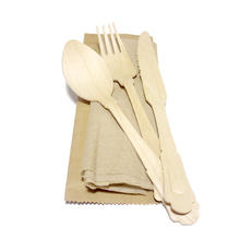 2018 New Disposable Wooden Italian Cutlery