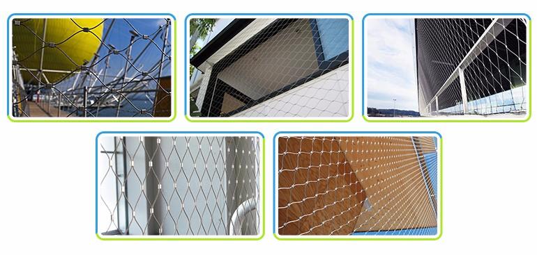 Architectural Flexible Webnet Stainless Steel Ferrule Rope Mesh
