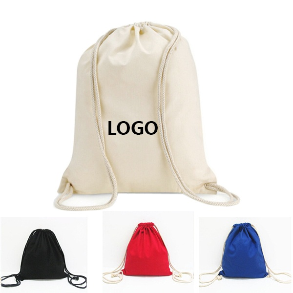 ECO canvas cotton drawstring bag muslin drawstring gift jewelry bag